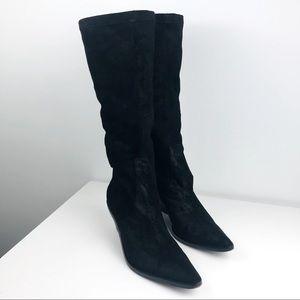 Donald J. Pilner Black Jokla Stretch Boots